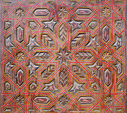 Orientalny ornament na drewnianej powierzchni Fotografia Royalty Free
