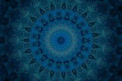 orientalny ornament w błękicie Zdjęcia Stock