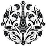 Orientalny ottoman projekta czerń Ilustracji