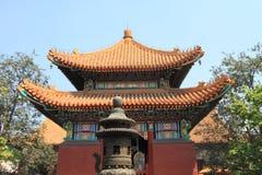 Orientalny pawilon przy Confucius świątynią Zdjęcia Royalty Free