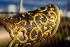 Orientalny poręcz nakrętki projekt Zdjęcie Royalty Free