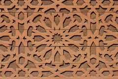 Orientalny projekt, języka arabskiego wzór na drewnianym tle Zdjęcia Stock