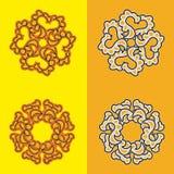 Orientalny różyczka wzór Zdjęcia Stock