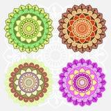 Orientalny round ornamentu set Fotografia Royalty Free