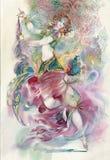 Orientalny taniec. Młoda dziewczyna royalty ilustracja