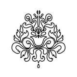 Orientalny wektoru adamaszka wzoru element również zwrócić corel ilustracji wektora royalty ilustracja