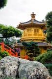 Orientalny złoty pawilon Chi Lin Nunnery Fotografia Stock