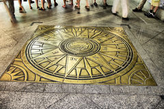 Orientate. Compass rose on the floor Stock Image