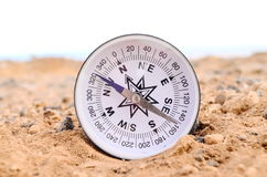Orientation Concept Metal Compass Royalty Free Stock Image