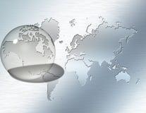 Orientation en verre Amérique du Nord de sphère Image stock
