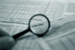 Orientation financière Photos stock