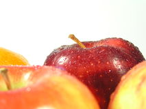 Orientation rouge de pomme Photos stock