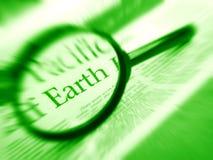 Orientation sur le mot de la terre dans les nouvelles Images stock
