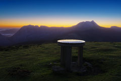 Orientation table in Saibi mountain top Royalty Free Stock Images