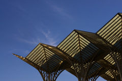 Oriente. Roof of the Oriente's Trainstation, Portugal Stock Image