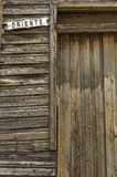 Oriente de Cuba. A wooden door of an old house in Oriente street, Guantanamo, cuba royalty free stock images