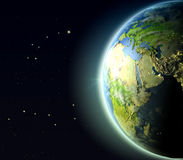 Oriente Medio de la órbita ilustración del vector