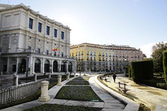 The Oriente square in Madrid Stock Images
