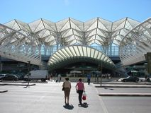 Oriente station, Lisbon royalty free stock image