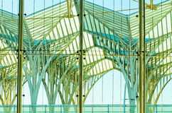 Oriente Station in Lisbon royalty free stock photo