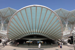 Oriente Station in Lisbon, Portugal Royalty Free Stock Photography