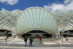 Oriente station Lissabon Arkivbilder