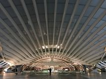 Oriente Station. Oriente metro station in Lisbon Royalty Free Stock Images