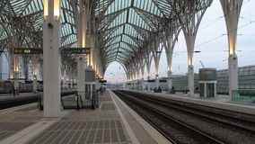Oriente train station. Lisbon, Portugal stock photos