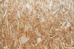 Oriented strand board background of texture. Stock Images