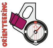 orienteering的体育拇指指南针  图库摄影