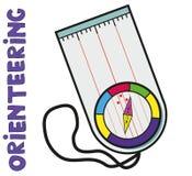 orienteering的体育指南针  平, 库存照片