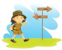 Orienteering royalty free illustration