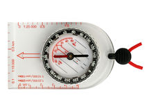 Orienteering compass. Compass used in orienteering sport Royalty Free Stock Photo