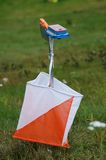 Orienteering control point Royalty Free Stock Photo