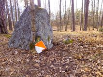 Orienteering control point royalty free stock image