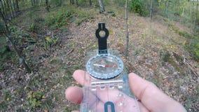 Orienteering w lesie zdjęcie wideo