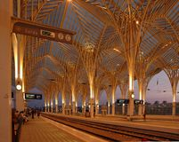 orientejärnvägstation Royaltyfria Foton