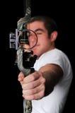 Orienter avec la flèche photographie stock libre de droits