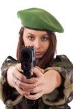 Orienter militaire de femme photo libre de droits