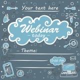 Orientering affisch av webinar som e-lär vektor illustrationer