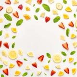 Orientering av citrus- och mintkaramellsidor Arkivfoto