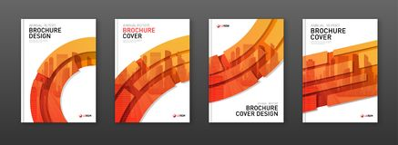 Orientering för broschyrräkningsdesign för affär och konstruktion stock illustrationer