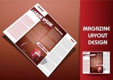 Orientering för tidskriftillustrationdesign Royaltyfri Fotografi