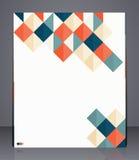 Orienteringsaffärsreklamblad, tidskrifträkning eller företags mallannonsering för geometrisk design Fotografering för Bildbyråer