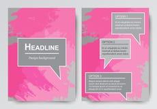 Orienteringsbroschyrer, reklamblad Abstrakta bakgrunder med borsteslaglängder Royaltyfria Foton