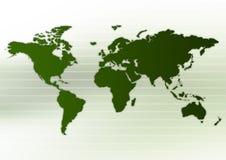 orienteringsworldmap Arkivfoto
