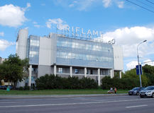 Oriflame Sweden building on Khamovnichesky Val Street, Moscow. Russia Stock Photo