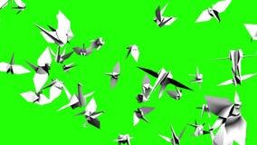 Origâmi Crane On Green Chroma Key ilustração royalty free