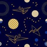 Origâmi da fantasia no céu escuro ilustração royalty free