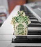 Origâmi da nota de dólar Foto de Stock